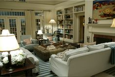 """Somethings Gotta Give living room  love the warmth of this room.  Too many """"things"""" for me around, however, love the placement and colors"""
