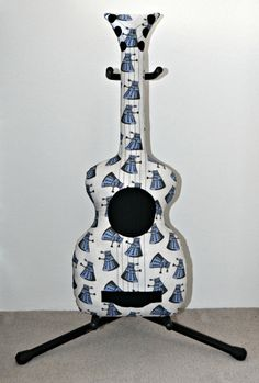 Dr Who Dalek Acoustic Guitar Pillow Guitar Softie by VoxandDolly
