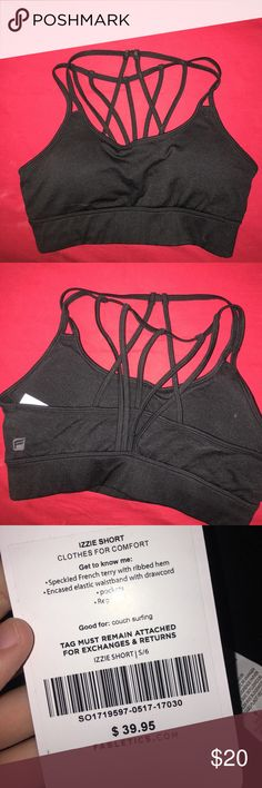 f45e45e1a217f Fabletics sports bra BRAND NEW Brand new fabletics sports bra. Black and  super cute detailing in the back! Padded and supportive.