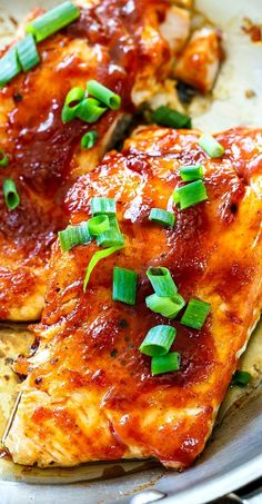 Honey BBQ Salmon can be made in under 25 minutes!