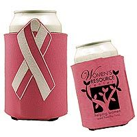 Ribbon Can Holders are a great item for breast cancer awareness giveaways and gifts.