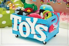 DIY toy box - This would make a great Auction Basket - Fill with new toys or games and a gift card to a toy store? Diy For Kids, Crafts For Kids, Diy Kids Furniture, Wood Crates, Toy Craft, Wood Toys, Toy Store, Kids Playing, Wood Projects