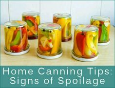 Signs of canning spoilage