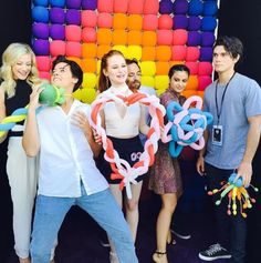 And when the whole crew got colourful at Comic-Con.