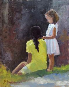 "Daily+Paintworks+-+""Together""+-+Original+Fine+Art+for+Sale+-+©+Debbie+Dowdle"