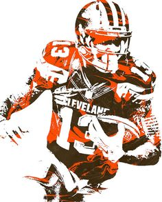Odell Beckham Jr Cleveland Browns Pixel Art 1 Art Print by Joe Hamilton Cleveland Browns History, Cleveland Browns Football, Nfl Football Teams, Football Art, Football Stuff, Football Images, Football Pictures, Odell Beckham Jr Wallpapers, Kobe Bryant Lebron James