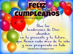 tarjetas de cumpleaños cristianas - Buscar con Google Happy Birthday Wishes Cake, Birthday Greetings, Birthday Quotes For Him, Birthday Messages, Spanish Inspirational Quotes, Spanish Quotes, Bday Cards, Happy B Day, Words