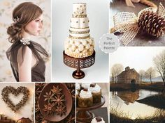 The Perfect Palette: {the little brown barn}: shades of brown, gold, ivory + white