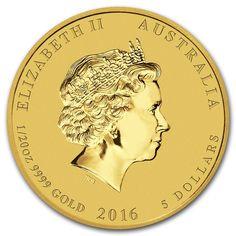 Moneda Año Lunar del Mono 2016 Oro 1/20 oz Reverse