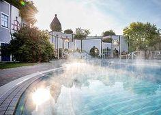 Rogner Bad Blumau - Hundertwasser Therme und Wellness-Hotel in der Steiermark, Österreich Bad, Waterfall, Outdoor Decor, Travel, Hundertwasser, Slovenia, Alps, Vacations, Nice Asses