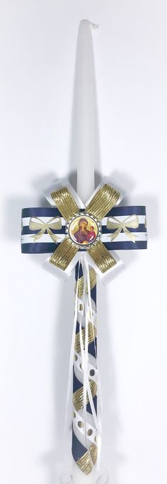 Your place to buy and sell all things handmade Easter Candle, Orthodox Easter, Greek Easter, Boy Baptism, Bubble Wrap, Holi, Candels, Paper, Ribbons