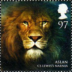 Aslan from Narnia, stamp