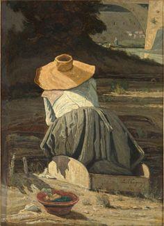 Paul Guigou (1834-1871) Lavandière, 1860 Huile sur toile, 81 x 59 cm Paris, musée d'Orsay RF 2051 © Musée d'Orsay (dist. RMN) / Patrice Schmidt