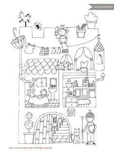 Doodle Coloring, Coloring For Kids, Coloring Book Pages, Coloring Sheets, Doodle Drawings, Doodle Art, Drawing For Kids, Art For Kids, Doodles