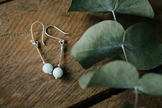 Sterling+silver+and+pale+blue+amazonite+drop+earrings.++This+is+a+lovely+semi+precious+stone+and+there+is+a+matching+bracelet+also.+Measure+approx+3cm+in+length+on+a+sterling+silver+wire.+The+earwires+are+sterling+silver.+A+nice+little+pair+of+earrings+for+any+outfit+or+occasion.++Come+in+a+white+Erincraft+Jewellery+box.