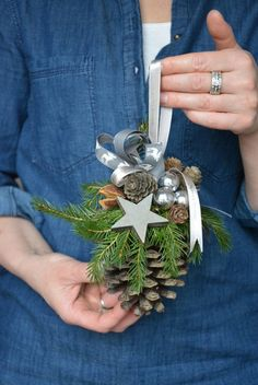 Large Pine Cone Fresh Spruce Christmas Ornament Pine Cone Decor Wall Hanging Christmas Decorations L Christmas Pine Cones, Christmas Holidays, Christmas Wreaths, Christmas Ornaments, Magical Christmas, Natural Christmas, Silver Christmas, Christmas Tree, Pine Cone Crafts