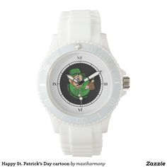 Happy St. Patrick's Day cartoon Watch