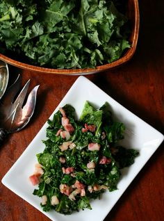 Spicy Stir-Fried Kale with Pancetta and Onions