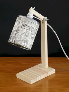 Here we will share with you 18 Amazing DIY Lamp Ideas You Can Do It At Home of how you can make some beautiful and gorIf you're looking for a great deal of li Wooden Lamp, Wooden Diy, Edison Lampe, Diy Luminaire, Creation Deco, Blog Deco, Diy Home Crafts, Lamp Design, Wood Projects