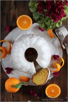Κέικ Πορτοκάλι Pound Cake, Sweet Tooth, Pudding, Orange, Breakfast, Desserts, Recipes, Food, Clever