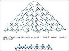 hacer un pico o poncho con grannys de crochet - Buscar con Google