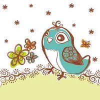 cute cute birdie scrapbook paper!