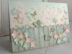 Hardwood Picket Fence Card !