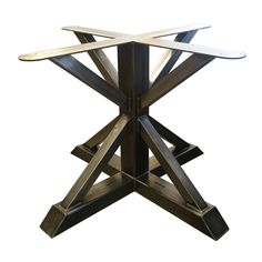 Dining Height Tall - Metal Pedestal Trestle Table Base - Round or Square Table Top, Single leg, Industrial Steel Stand - Dal Oats