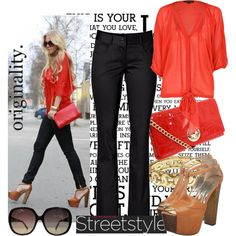 Street Style..., created by mandysol on Polyvore