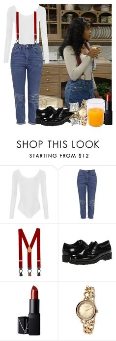 """#680 (ashley banks inspo)"" by babygyal09 ❤ liked on Polyvore featuring WearAll, Topshop, Brooks Brothers, La Canadienne, NARS Cosmetics and Rampage"