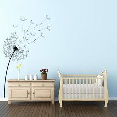 Blowing Dandelion Flower Wall Decal | Wall Decal World