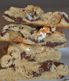 Bagte de her super lækre marshmallow cookies,rigtig godkombination, med de lidt seje marshmallow i den sprøde cookie dej, m...