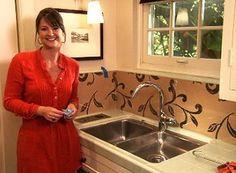 Ideas for the Kitchen: Wallpaper Backsplash