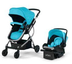 Baby Strollers Urbini Omni 3-in-1 Reversible Toddlers Stroller Car Seat Peacock