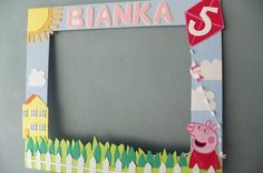 Cute Peppa's party frame