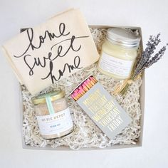 gift boxes are filled with unique gifts