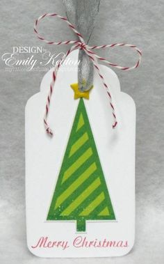 Merry Christmas Tree Tag by ejkeaton - Cards and Paper Crafts at Splitcoaststampers