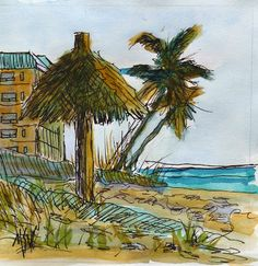 Just Painting : Beach Sunset