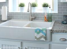 IKEA Farmhouse sink: Domsjo, $312.98  http://www.ikea.com/us/en/catalog/products/S99822037/