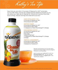 Great recipes for drinks on cleanse day or any day for that matter.  *Want More Energy has a new name now it is Amped Recover, all the same great ingredients just different name!