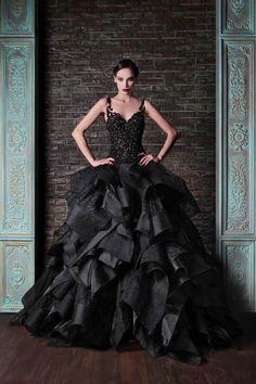 Rami Kadi Black Bridal Dress 2015