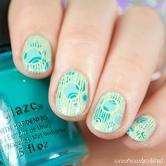 Diy tie dye nails hippie rasta watercolor nail art design 40 great nail art ideas teal prinsesfo Image collections