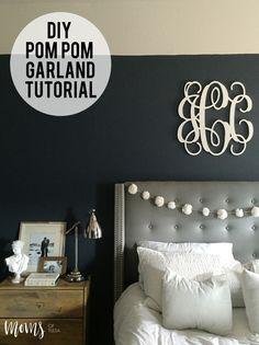 DIY Pom Pom Garland Tutorial - http://momsoftulsa.com/diy-pom-pom-garland-tutorial/