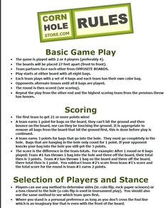 corn hole rules...