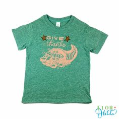 Give Thanks Tee || Organic Tri-blend Vintage Eco-friendly T-Shirt