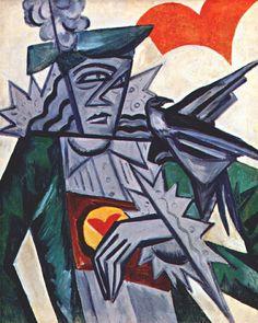 1914 WRITING DESK, Olga Rózanova (1816~1918), a Russian avant-garde artist in the styles of Suprematist, Neo-Primitivist, and Cubo-Futurist.