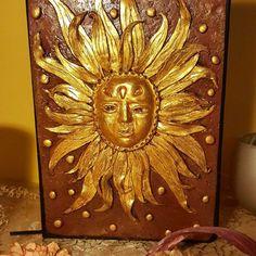 "Notebook ""SUNSHINE# Notebooks, Sunshine, Decorative Boxes, Etsy, Vintage, Painting, Home Decor, Art, Craft Gifts"