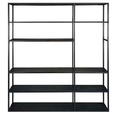 Black metal TV shelf - Edison
