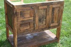 Your Custom Rustic Barn Wood Vanity Or Cabinet With A Shelf And 2 Drawers