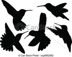 Vector - humming bird silhouette collection - stock illustration, royalty free illustrations, stock clip art icon, stock clipart icons, logo, line art, EPS picture, pictures, graphic, graphics, drawing, drawings, vector image, artwork, EPS vector art